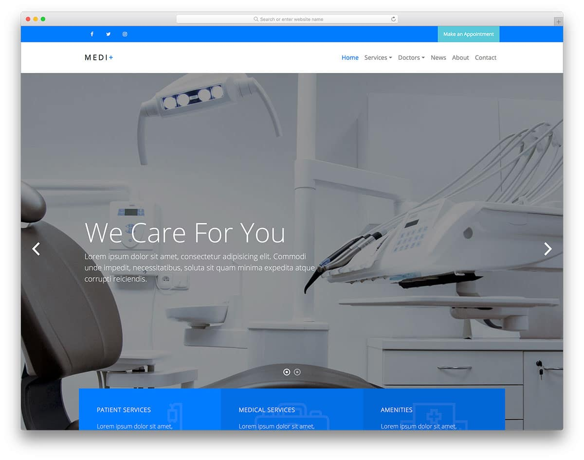 medi-plus-free-bootstrap-hospital-templates