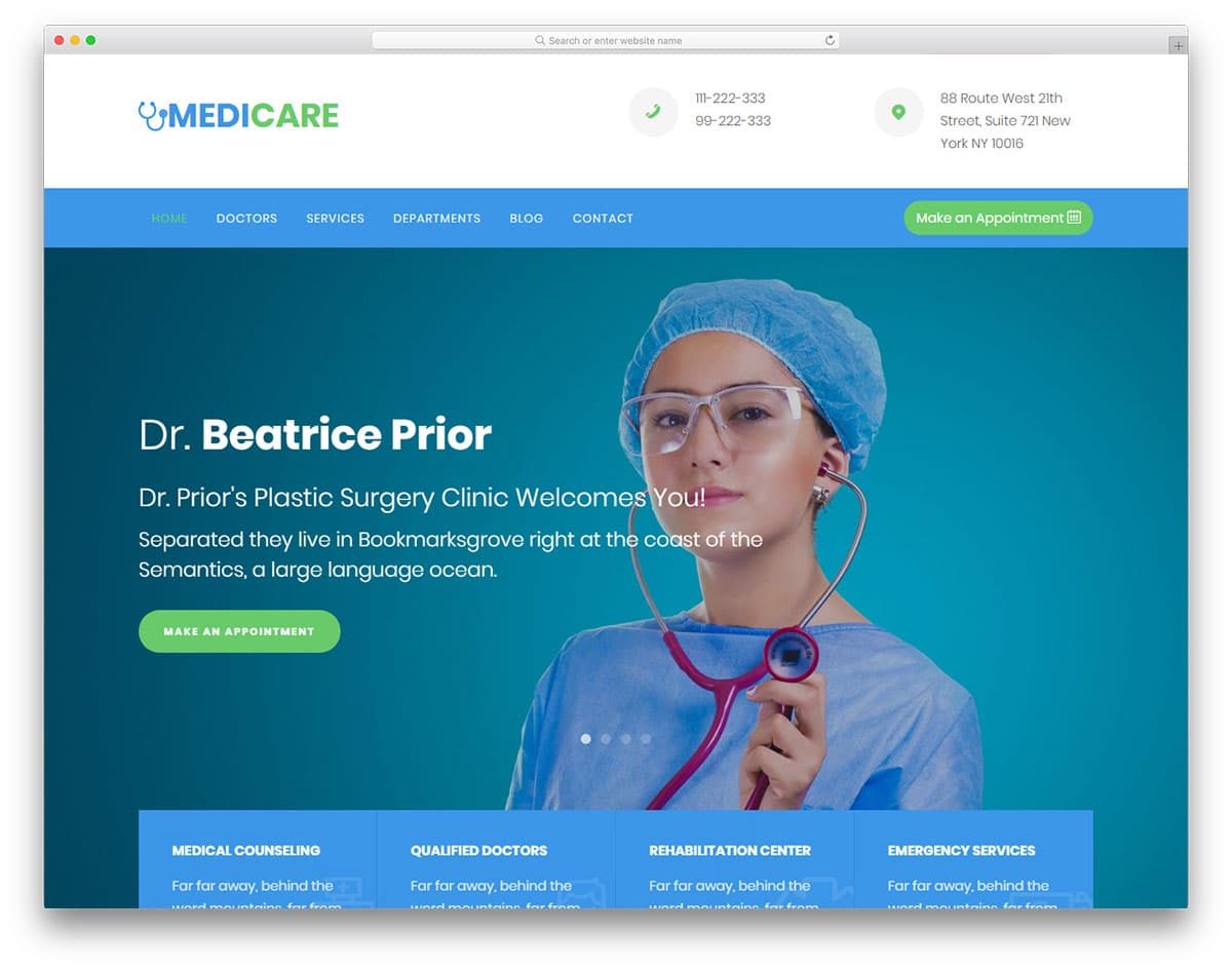 medicare-free-doctor-website-templates