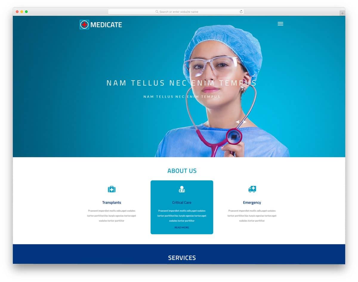20 Free Doctor Website Templates With Neat Design 2018 - uiCookies