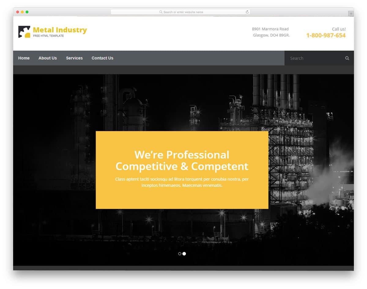 metallix-free-industrial-website-templates