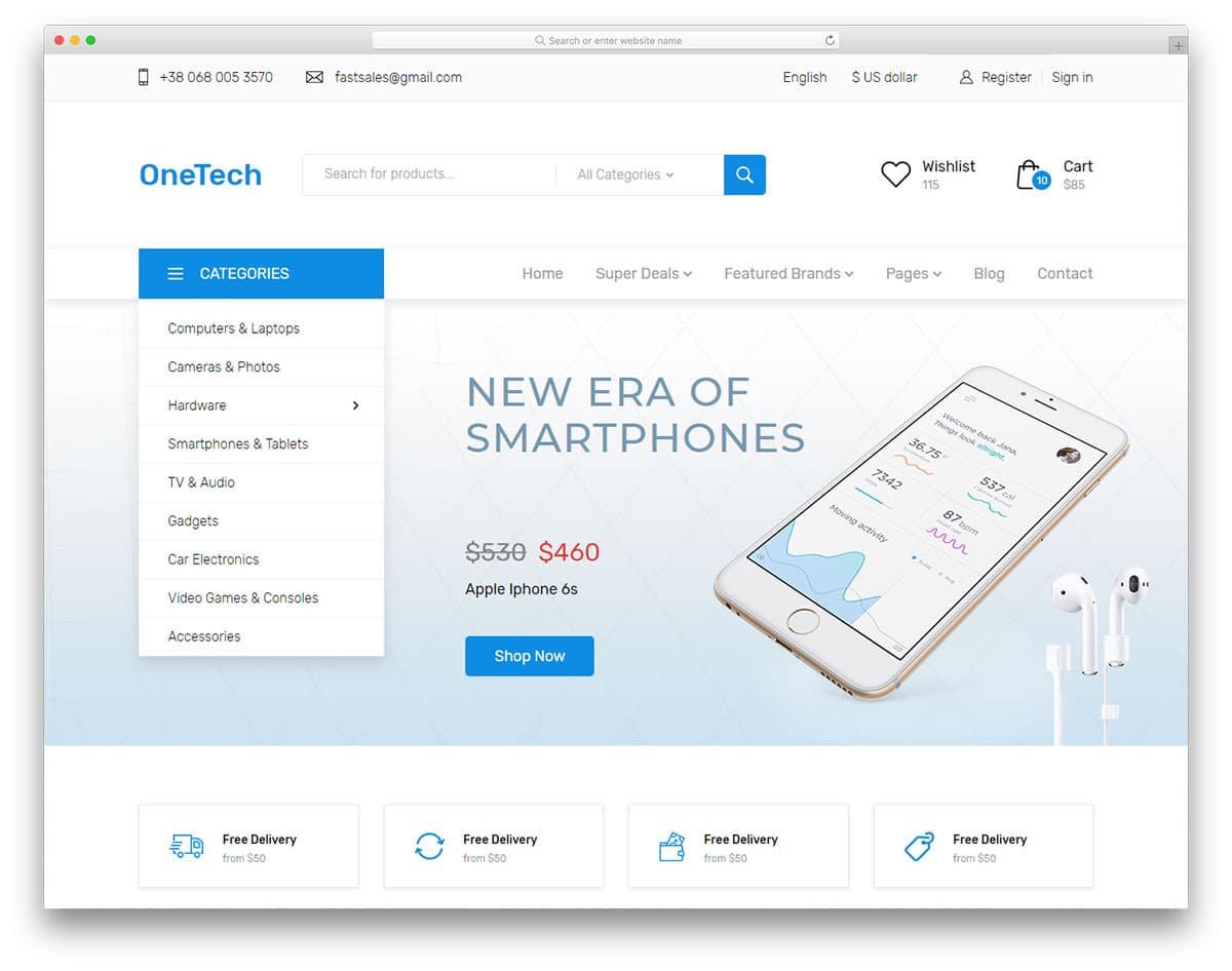 onetech-free-boutique-website-templates