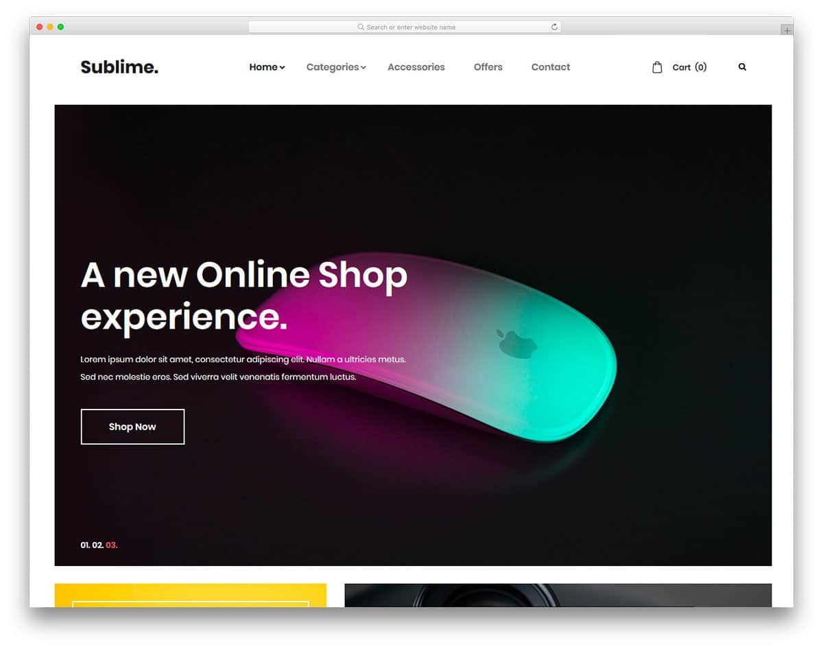 sublime-free-ecommerce-website-templates