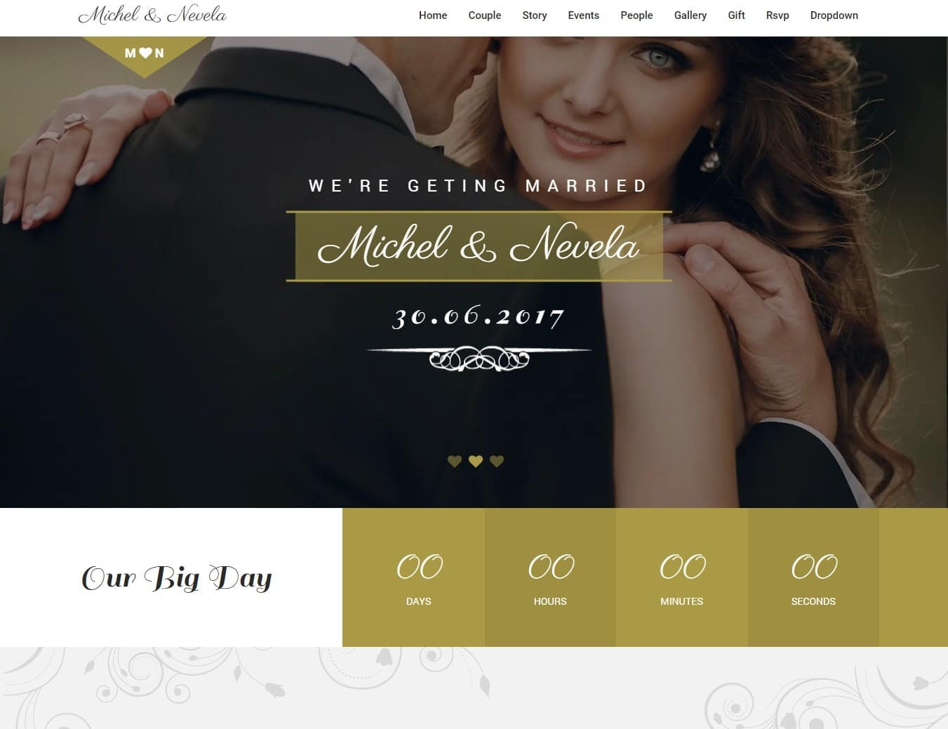 sweetheart wedding website template