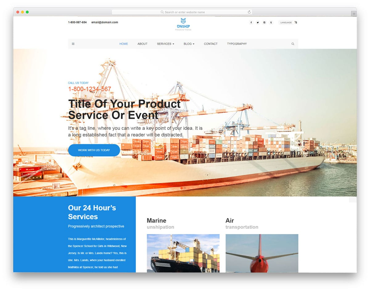 unship-free-industrial-website-templates