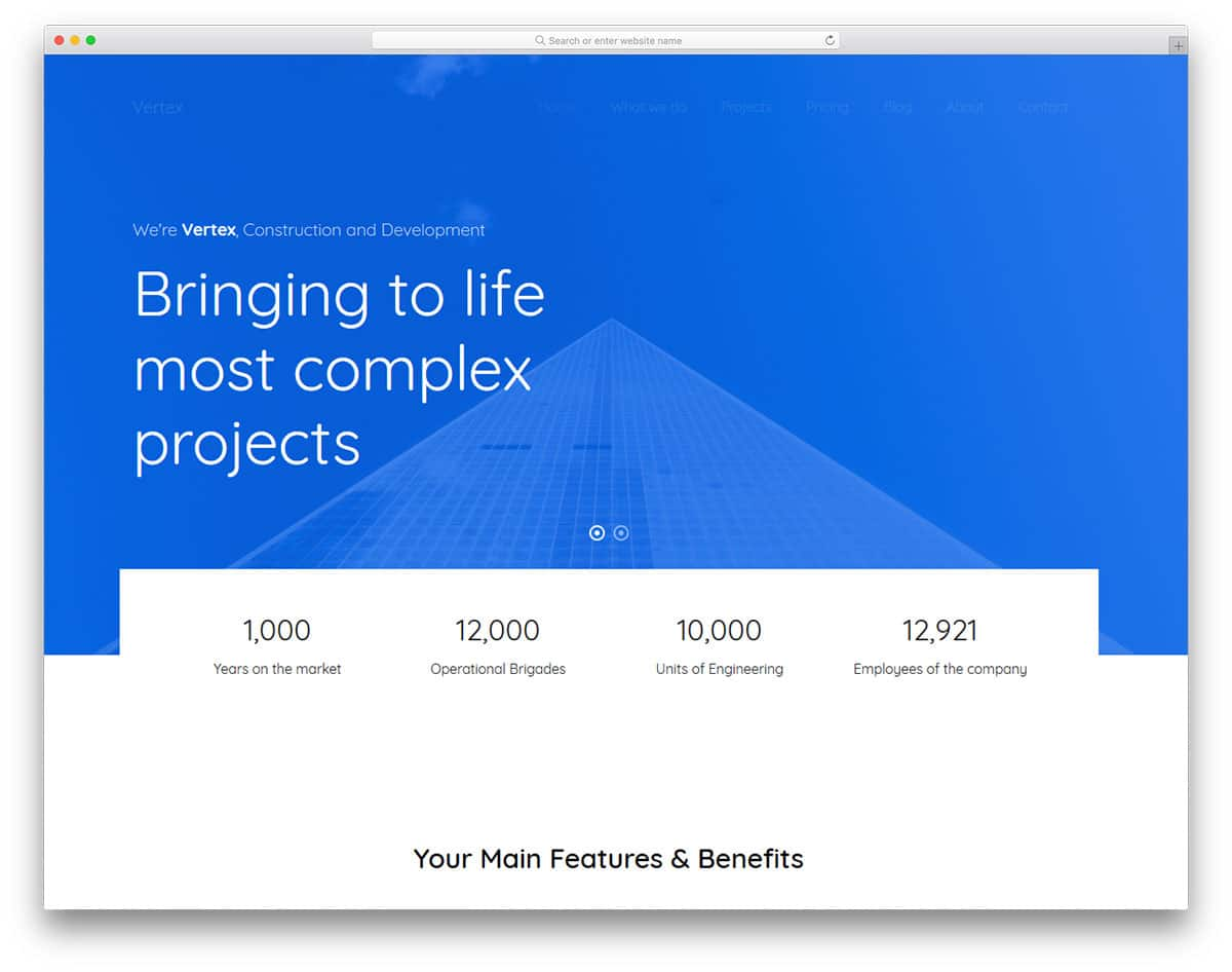 vertex-free-industrial-website-templates