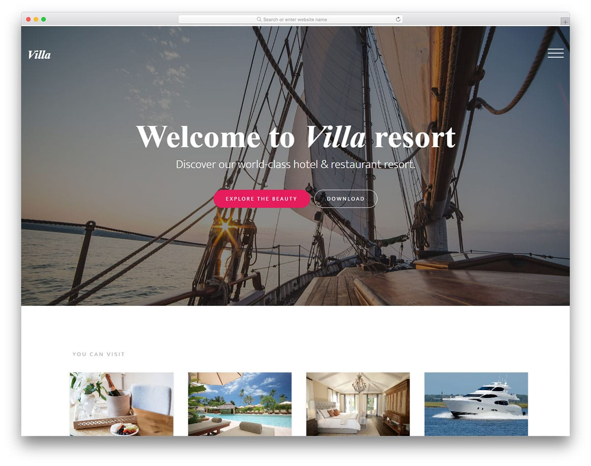 villa-free-bootstrap-hotel-templates