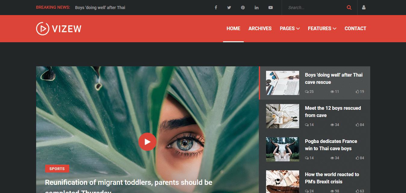 vizew-responsive-blogger-template