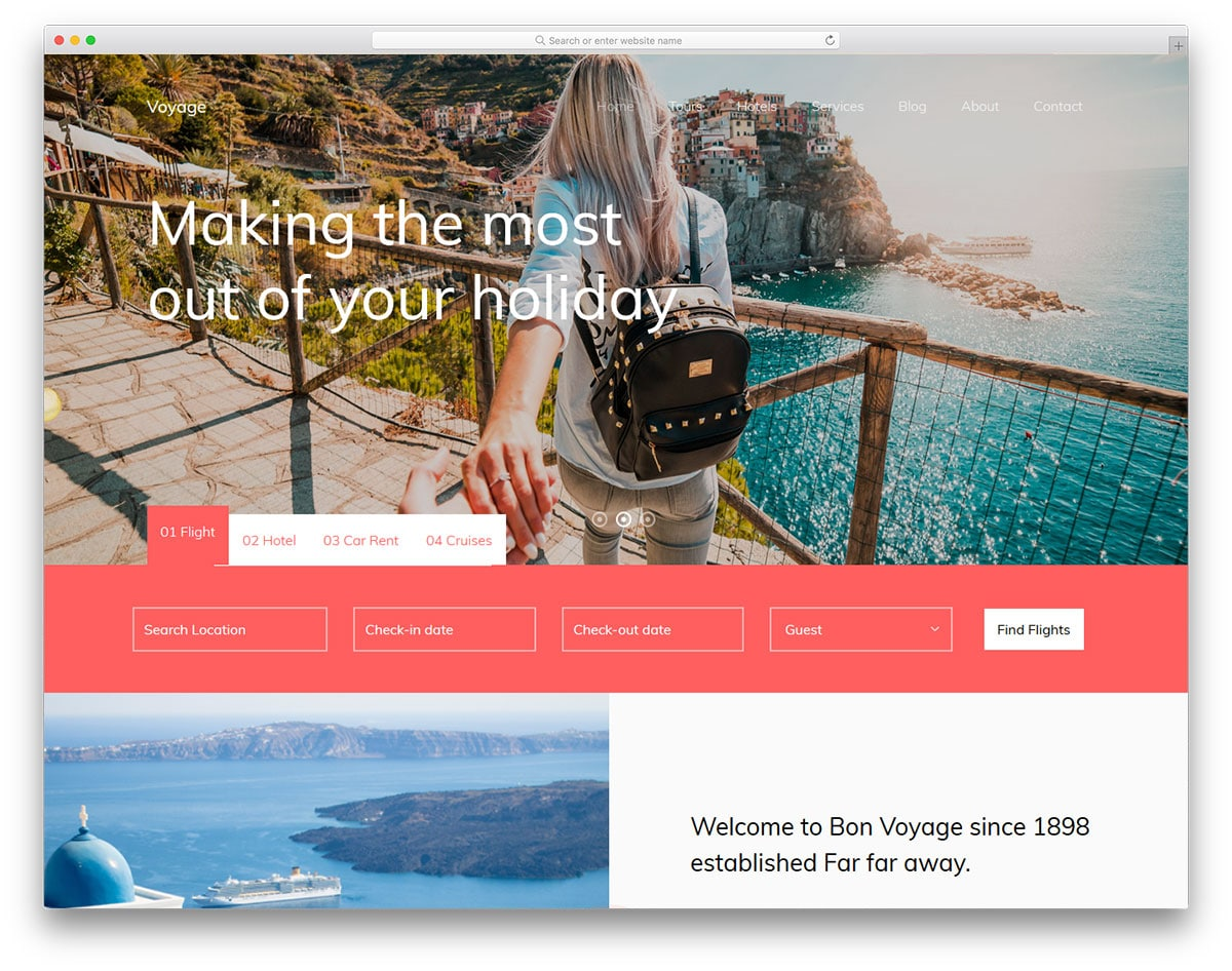 voyage-free-entertainment-website-templates