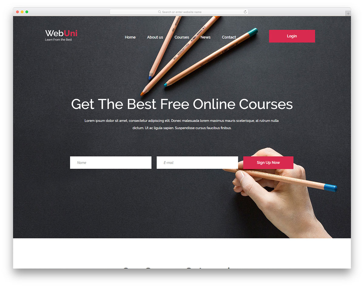 webuni-free-college-website-templates