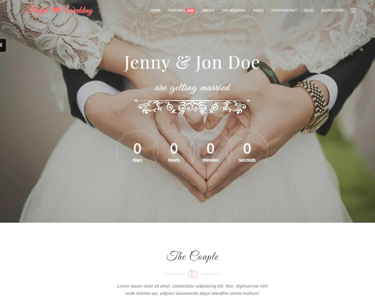 wedding event planner wedding website template