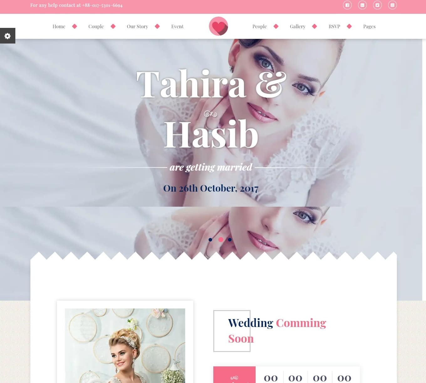 wedding forever love wedding website template