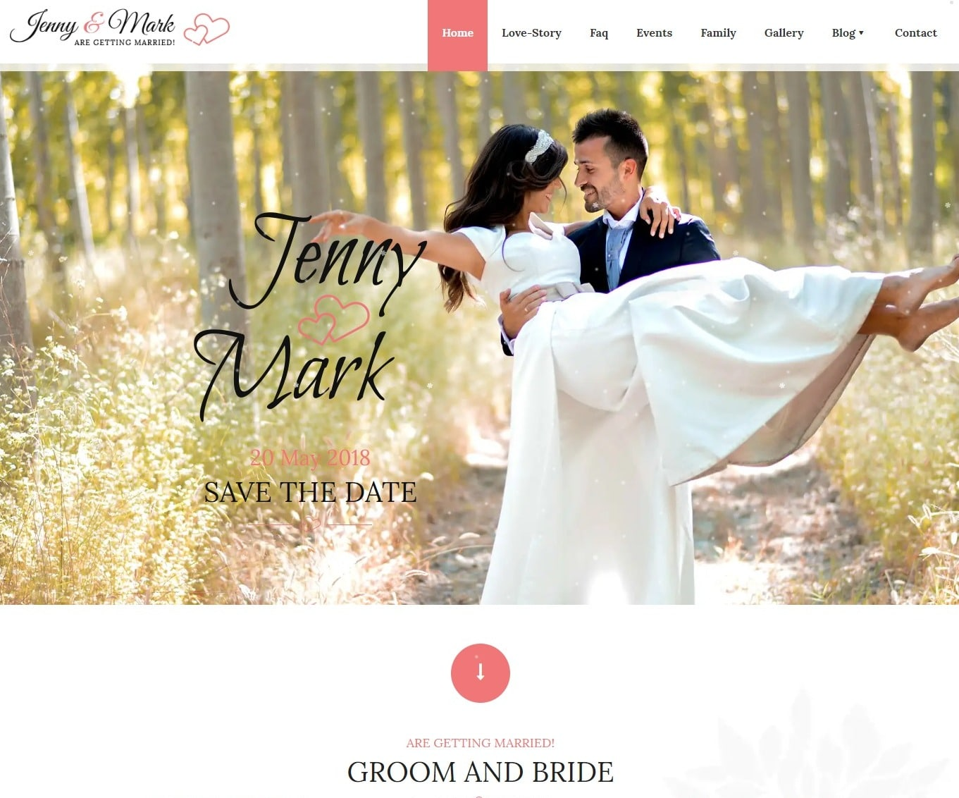 wedding invitationwedding website template