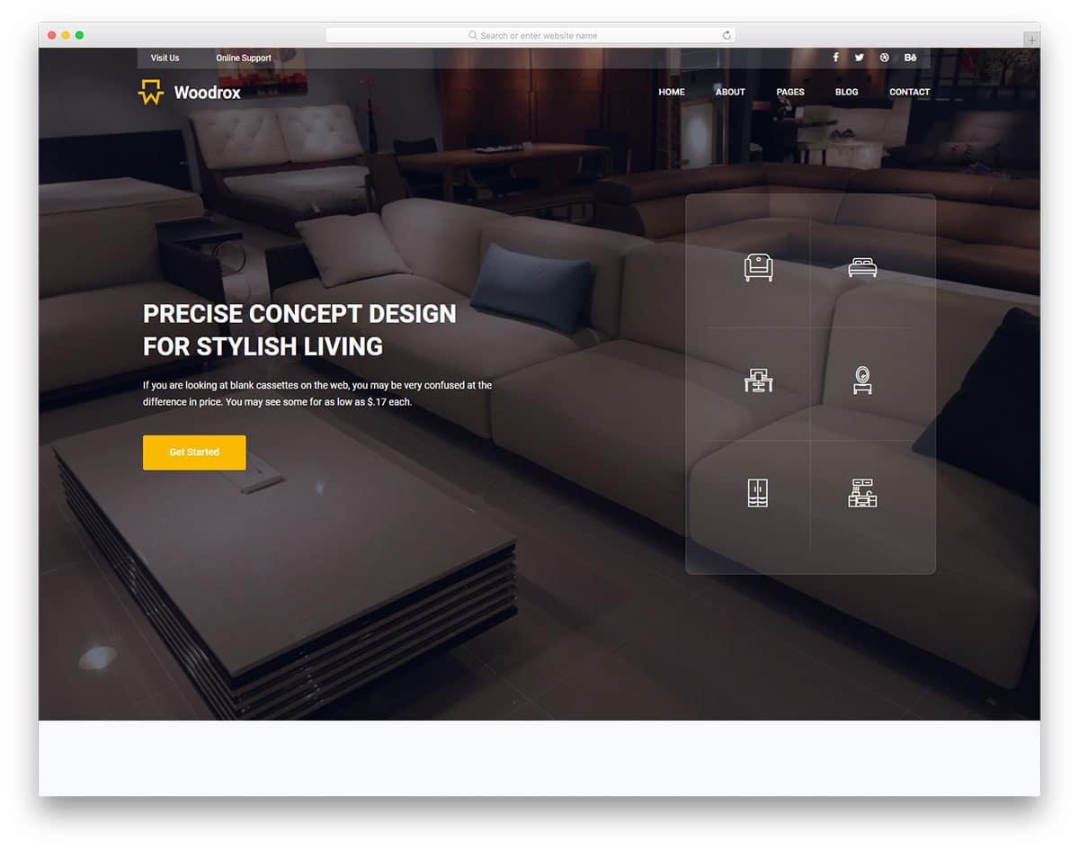 woodrox-free-industrial-website-templates