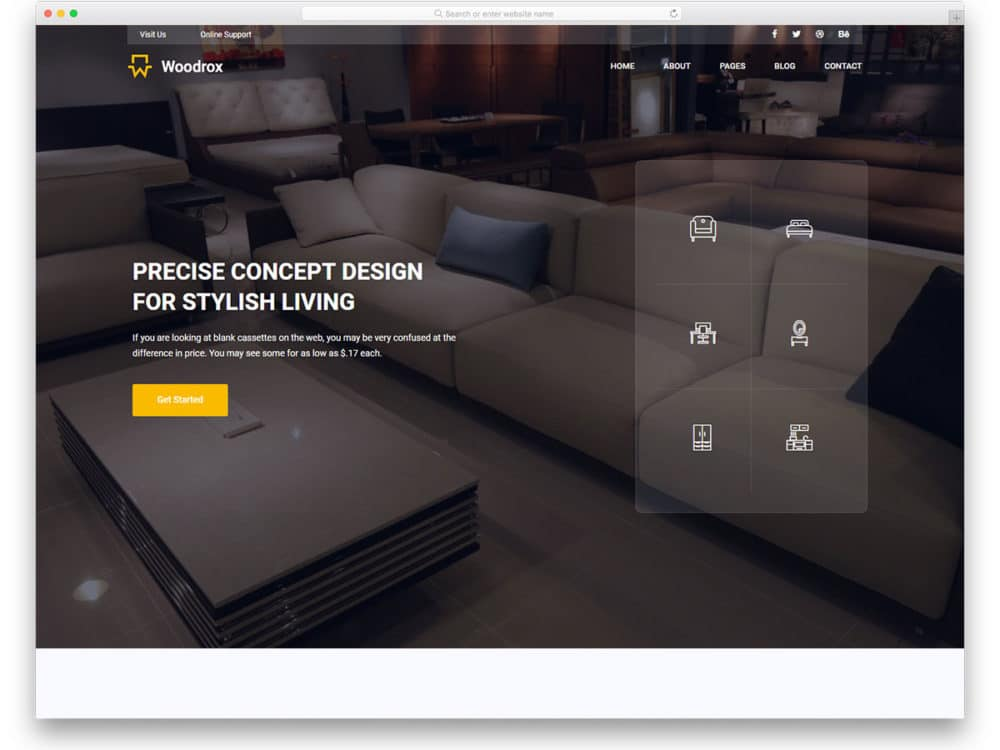 48 Free Interior Design Furniture Website Templates With Custom Interior Design Web Templates