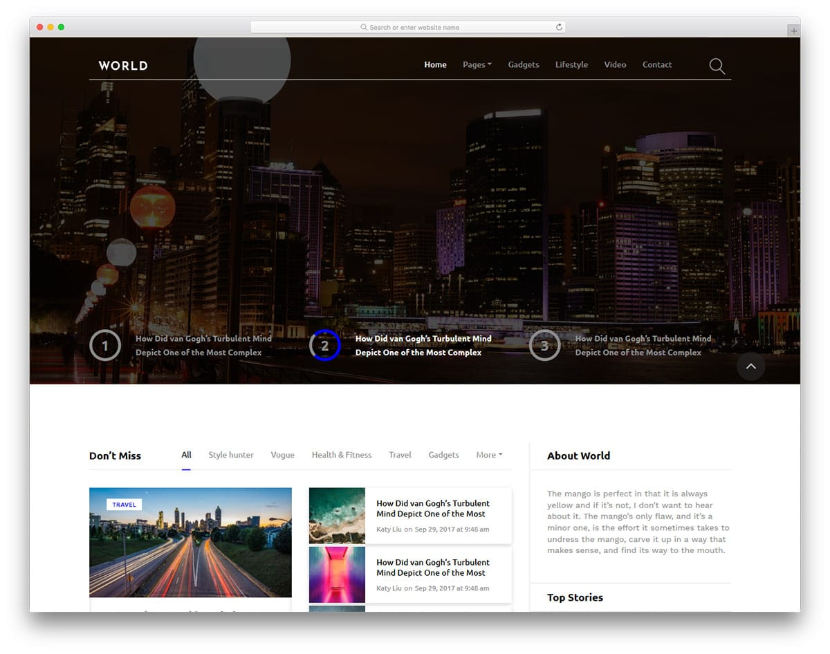 world-free-entertainment-website-templates