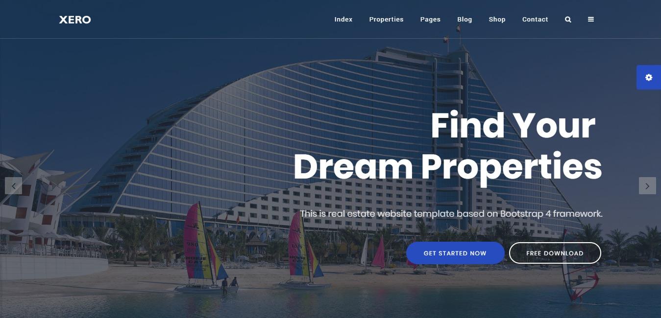 xero premium real estate website template