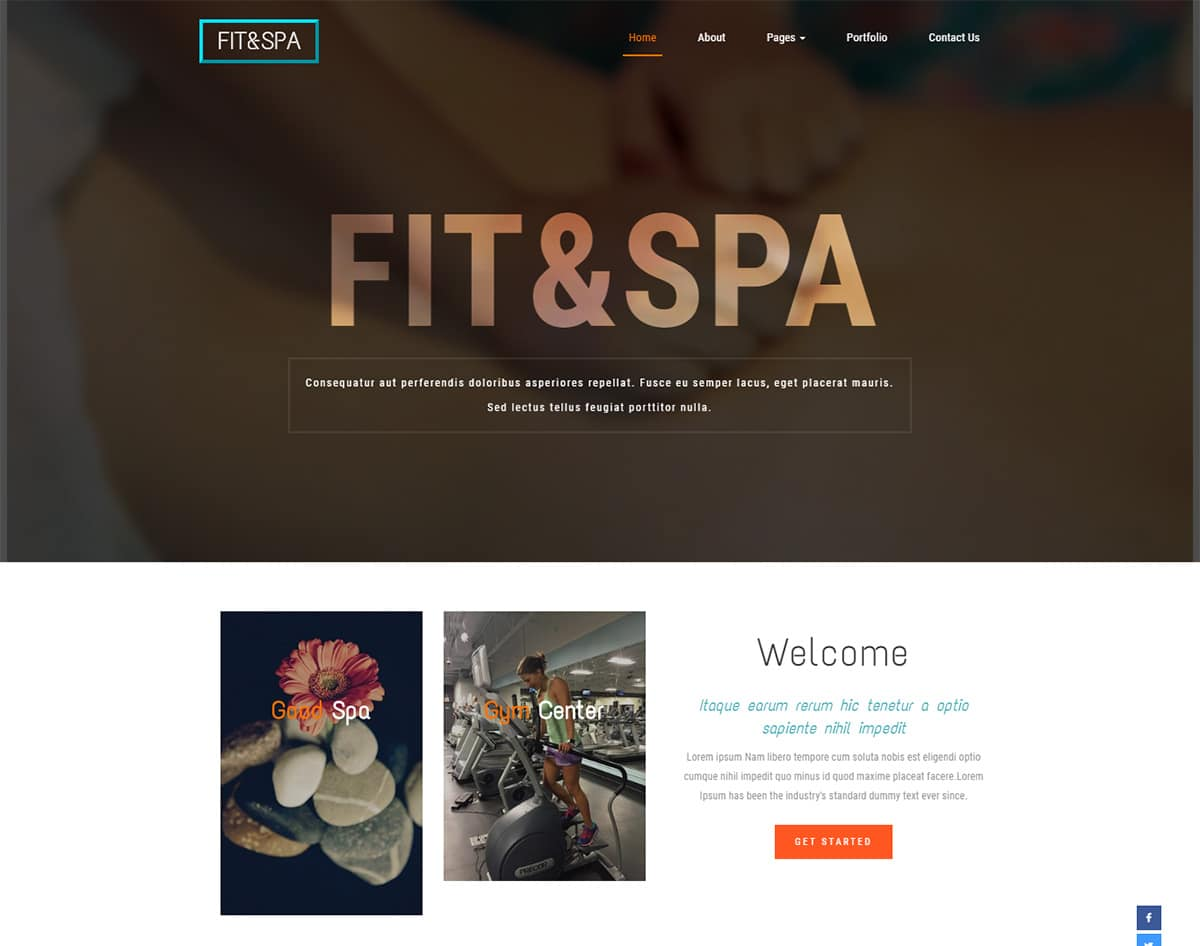 Fit-&-Spa bootstrap website template with video background