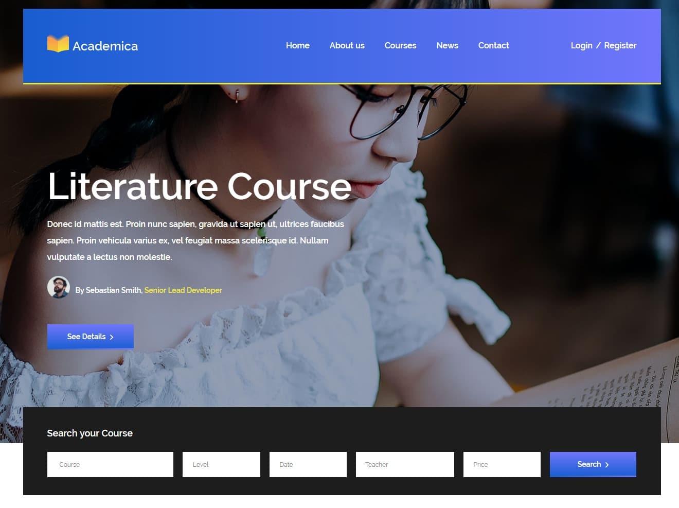 academica-free-kindergarten-website-template