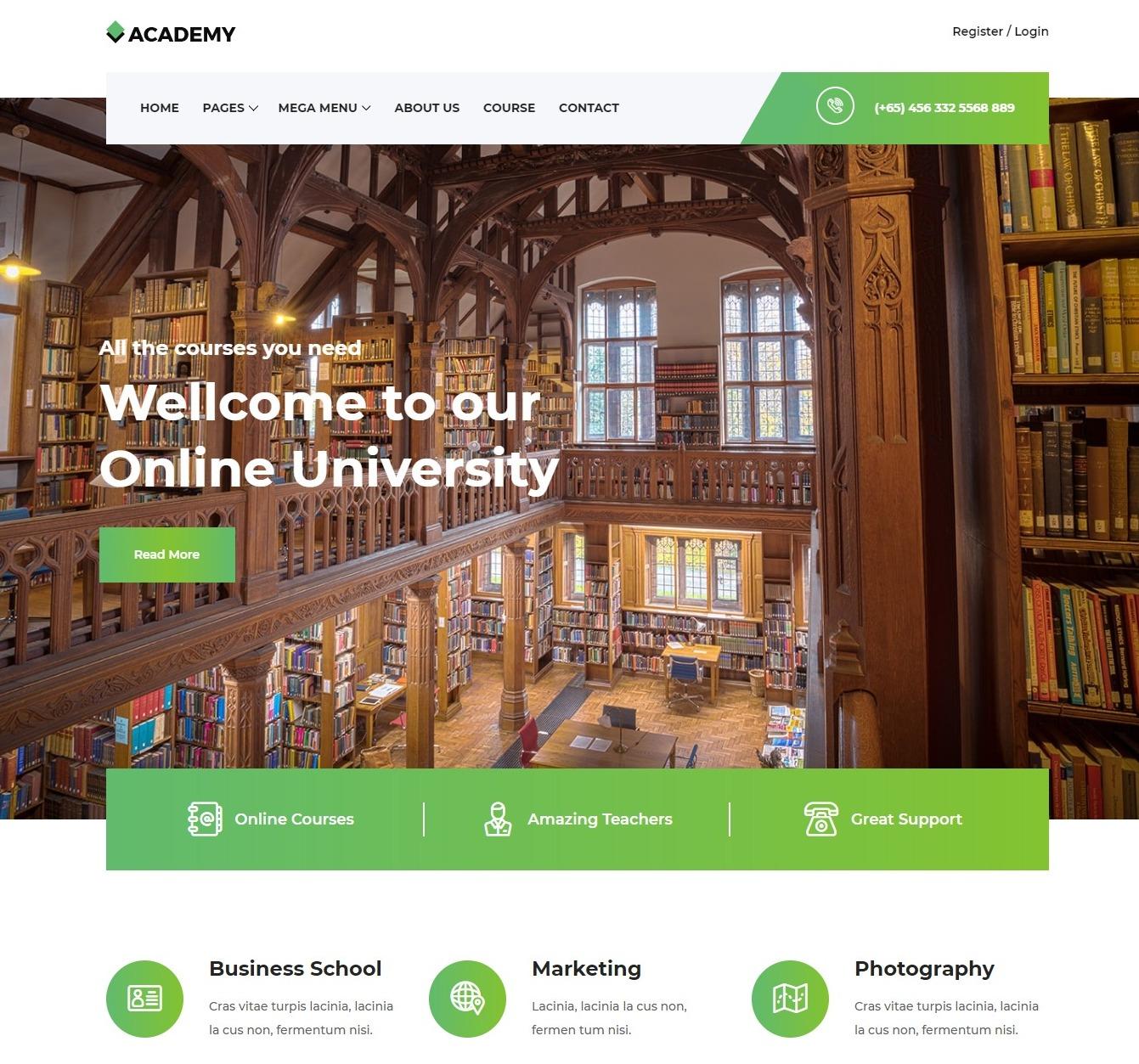 academy-free-kindergarten-website-template