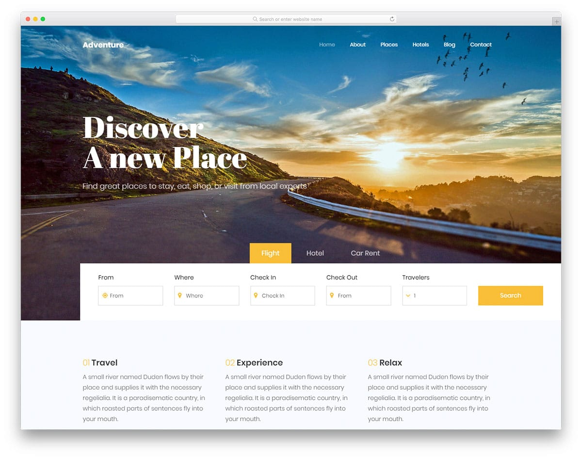 adventure2-free-travel-website-templates