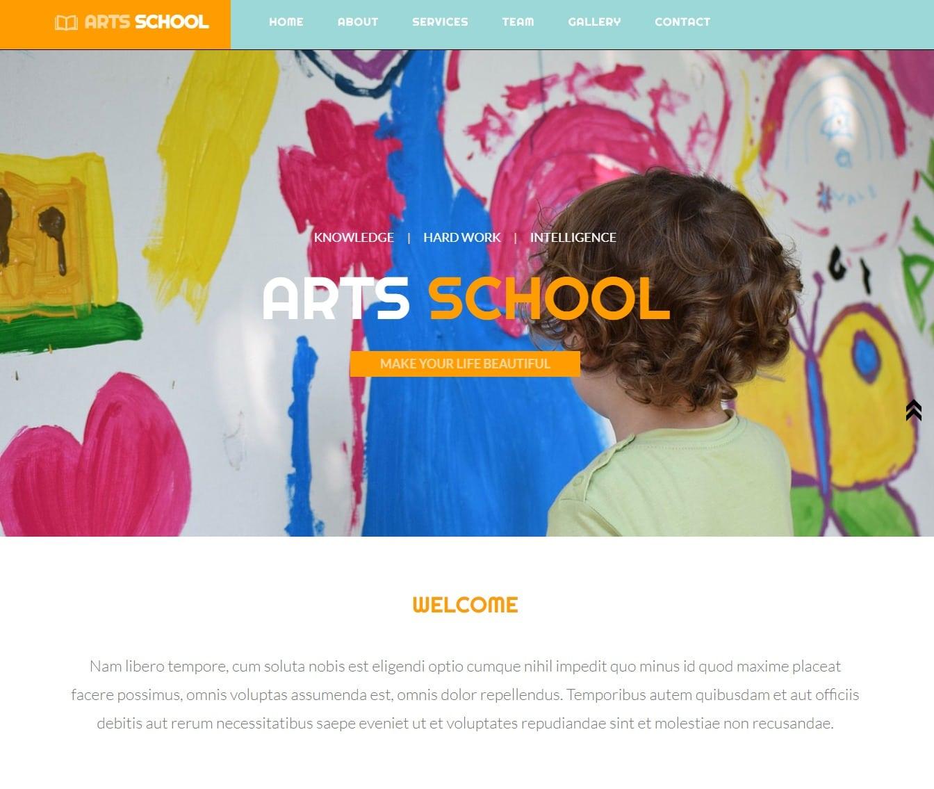 arts-school-free-kindergarten-website-template