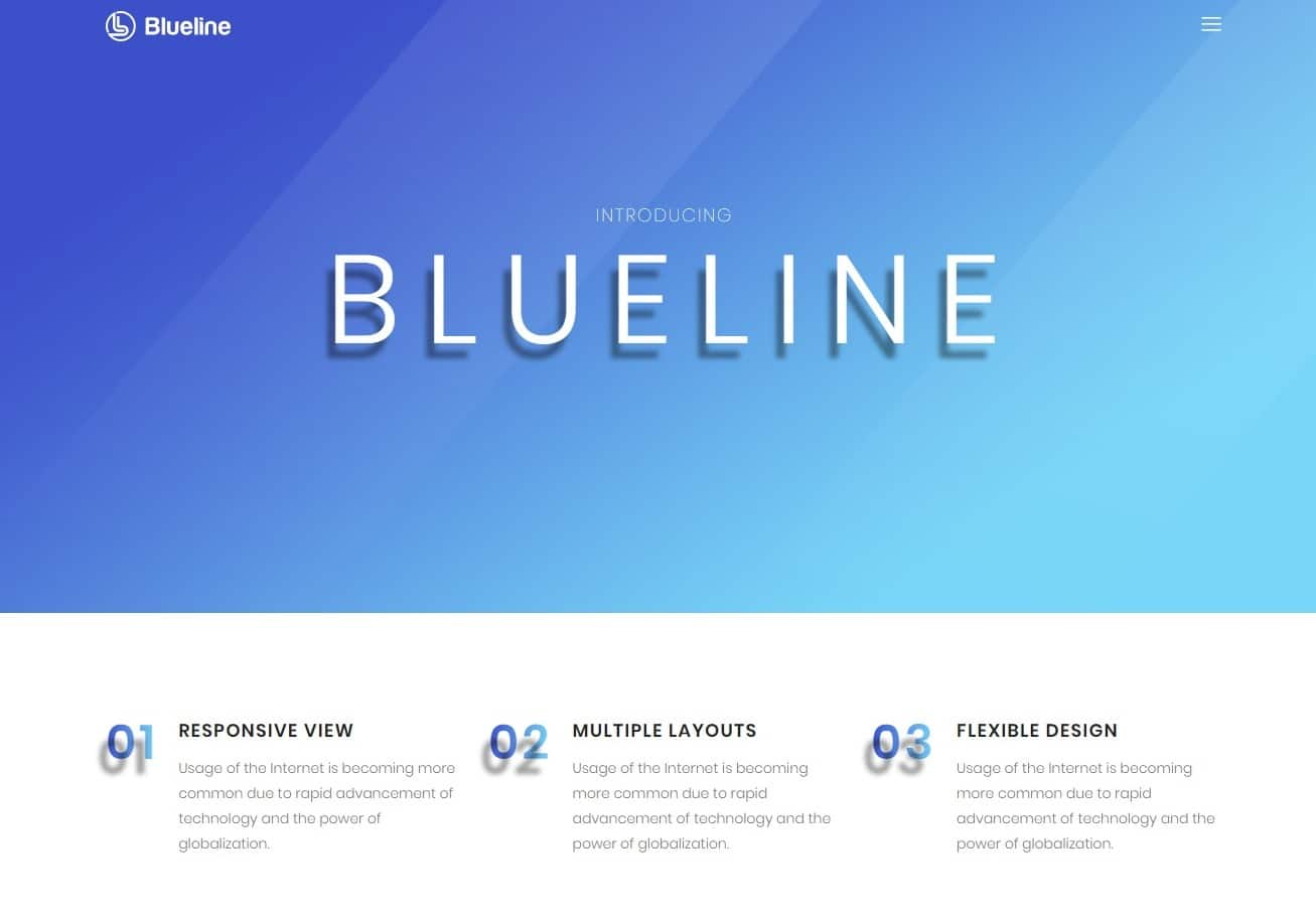 blueline transportation website template