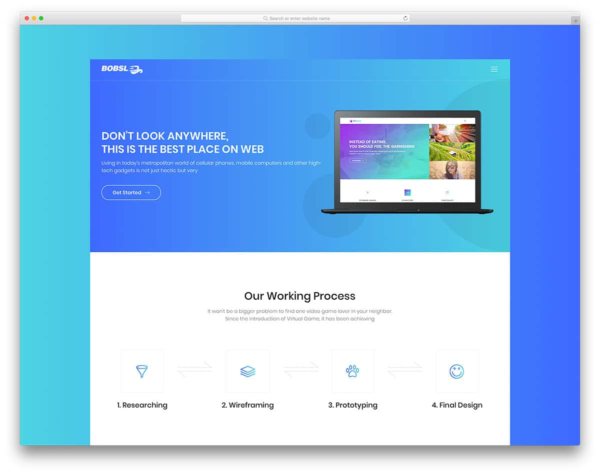 bobsled transportation website template