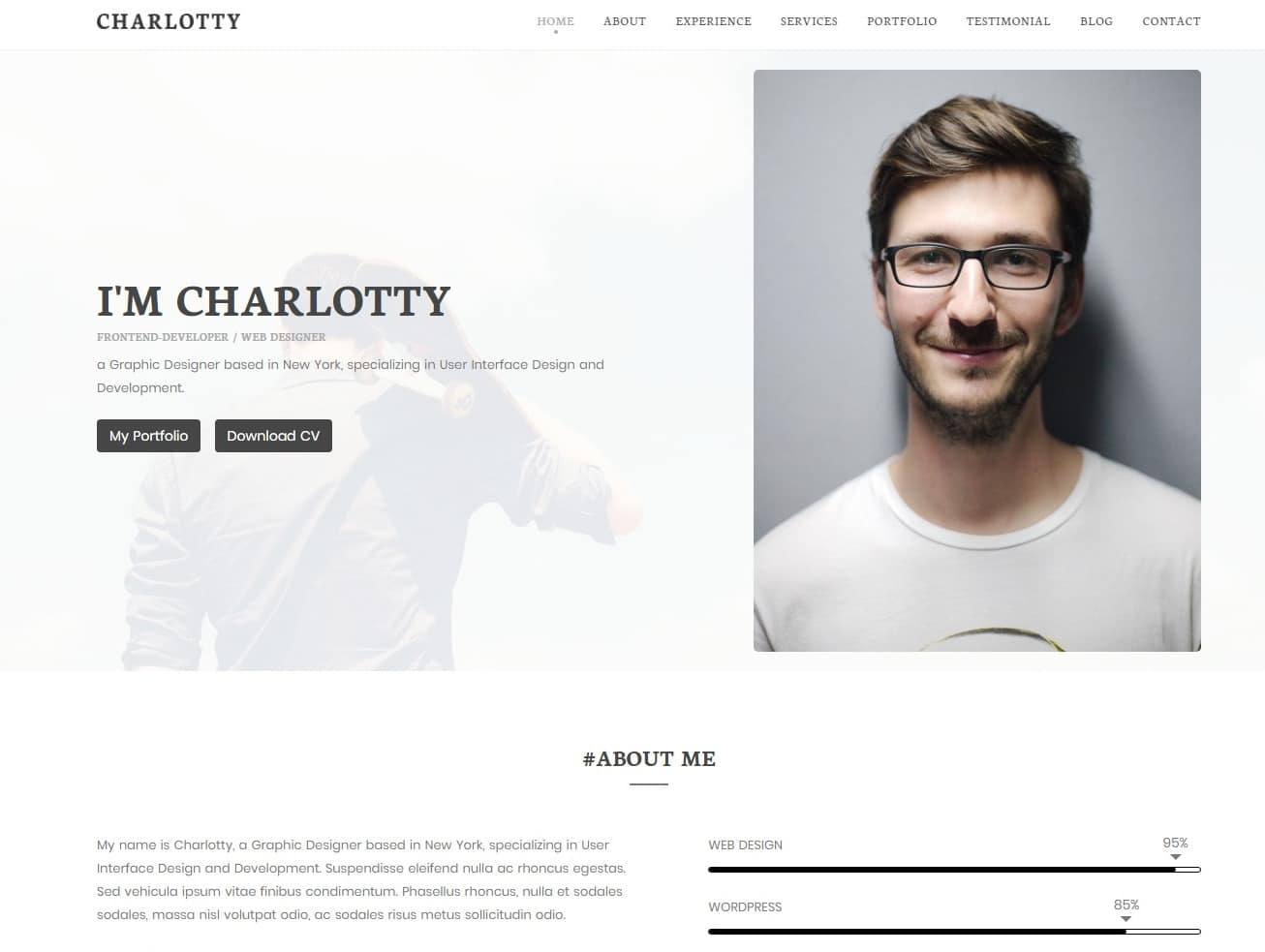 charlotty simple website template