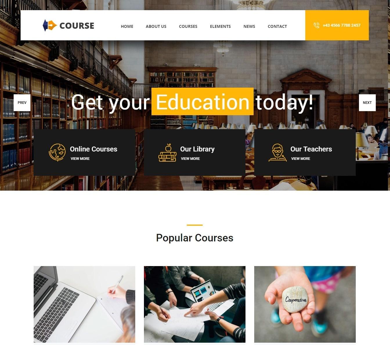 course-free-kindergarten-website-template