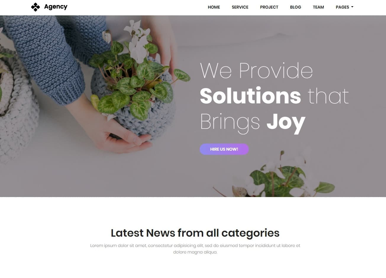 creative agency transportation website template