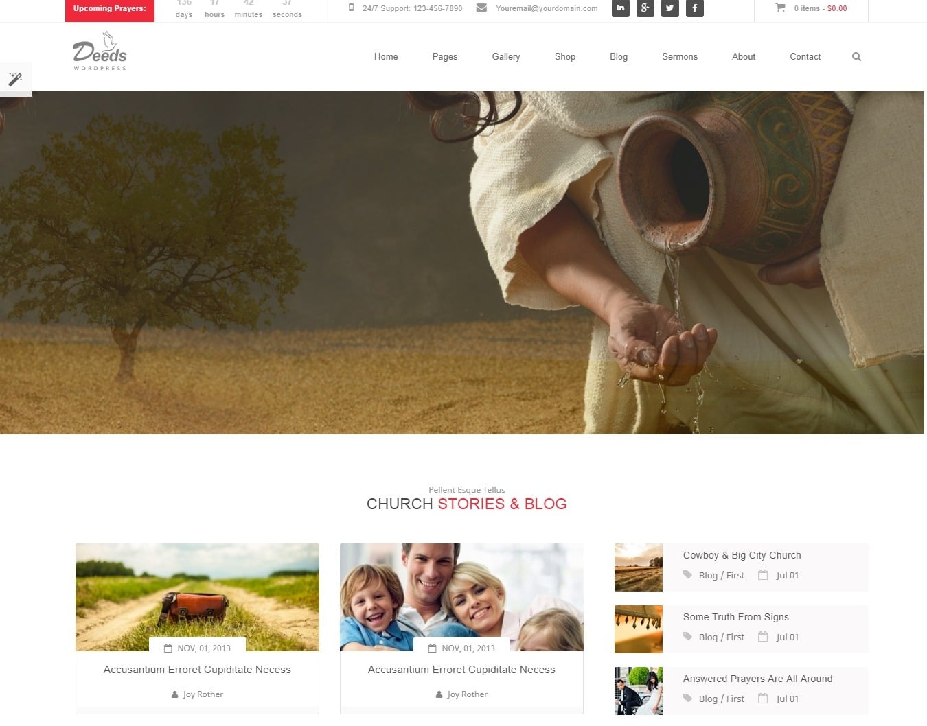 deeds simple website template