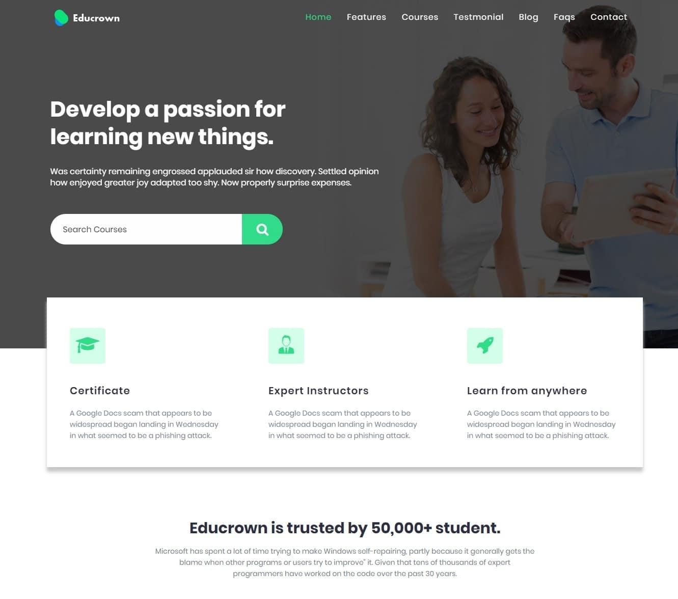 educrown-free-kindergarten-website-template