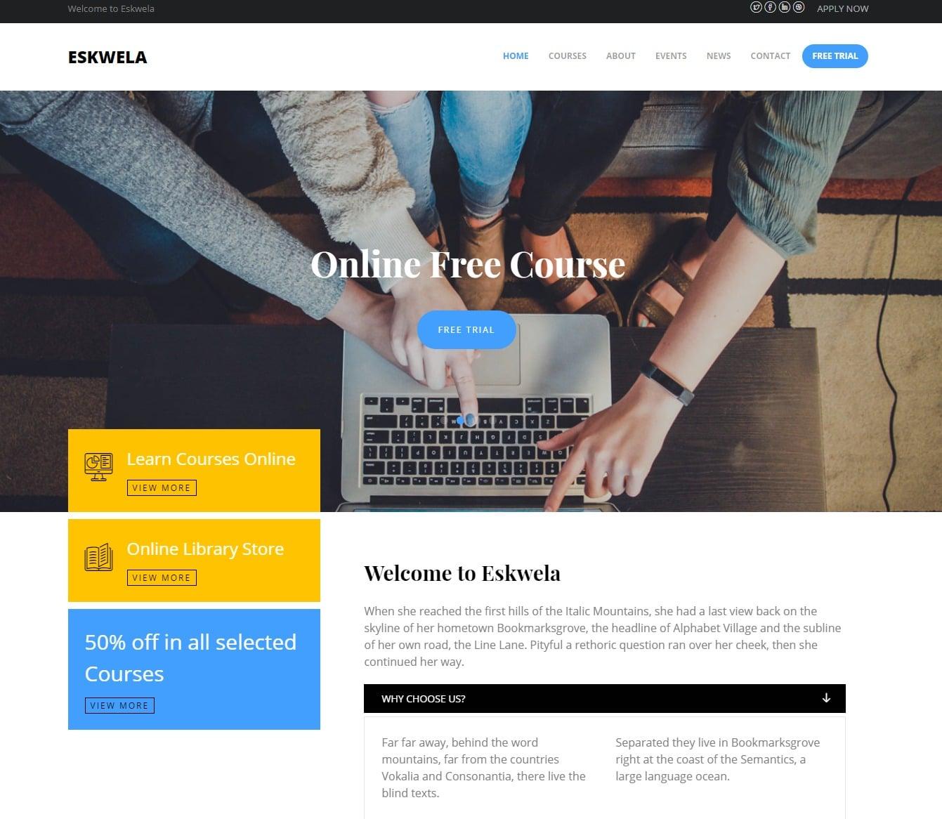 eskewla-free-kindergarten-website-template