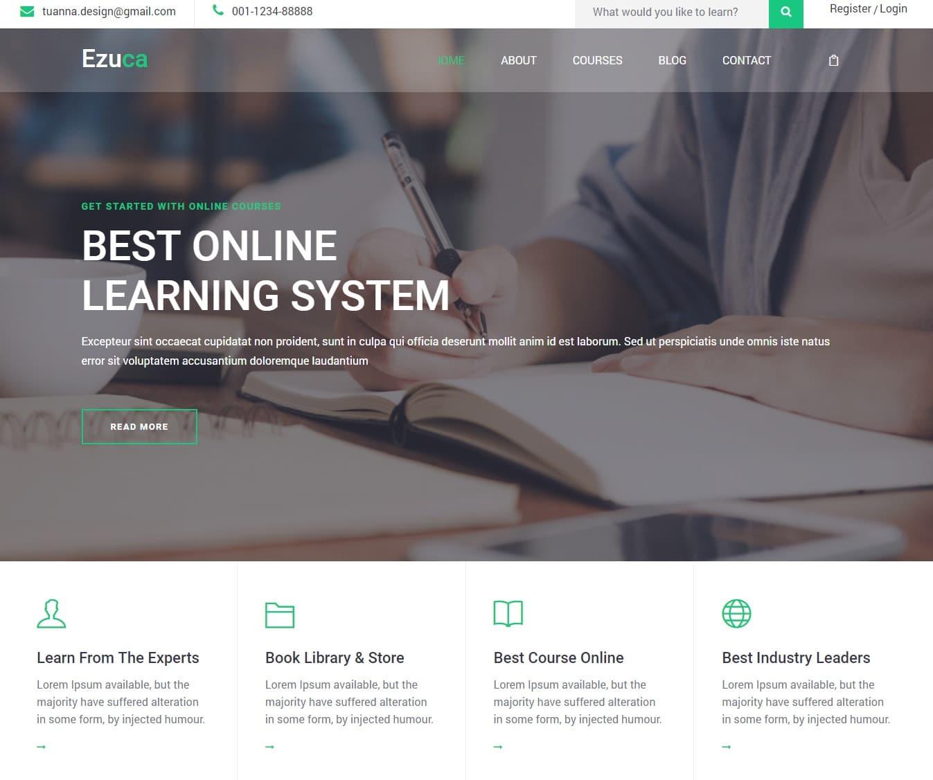 ezuca-free-kindergarten-website-template