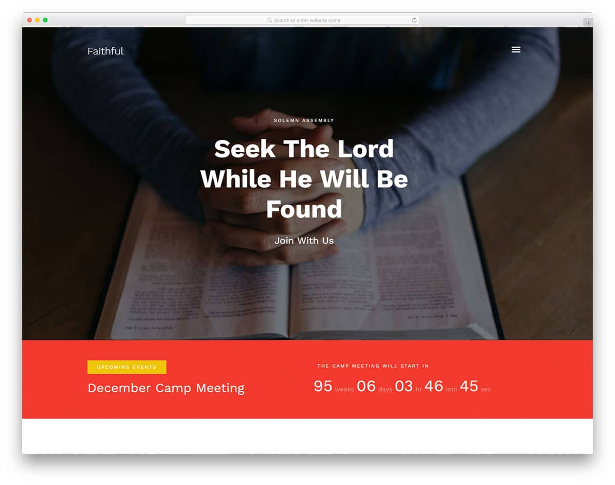 faithful-free-church-website-templates