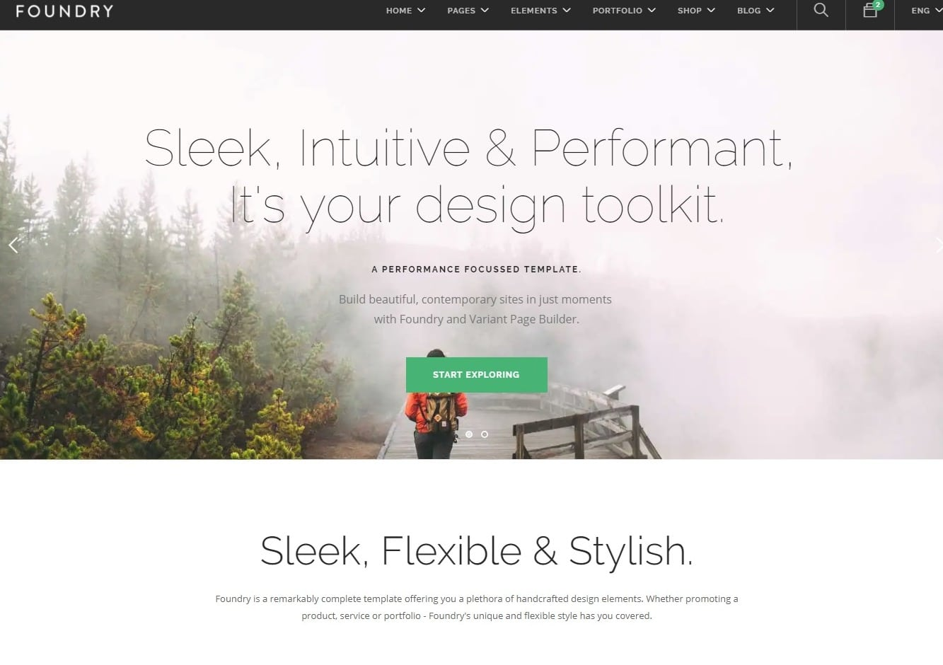 foundry simple website template