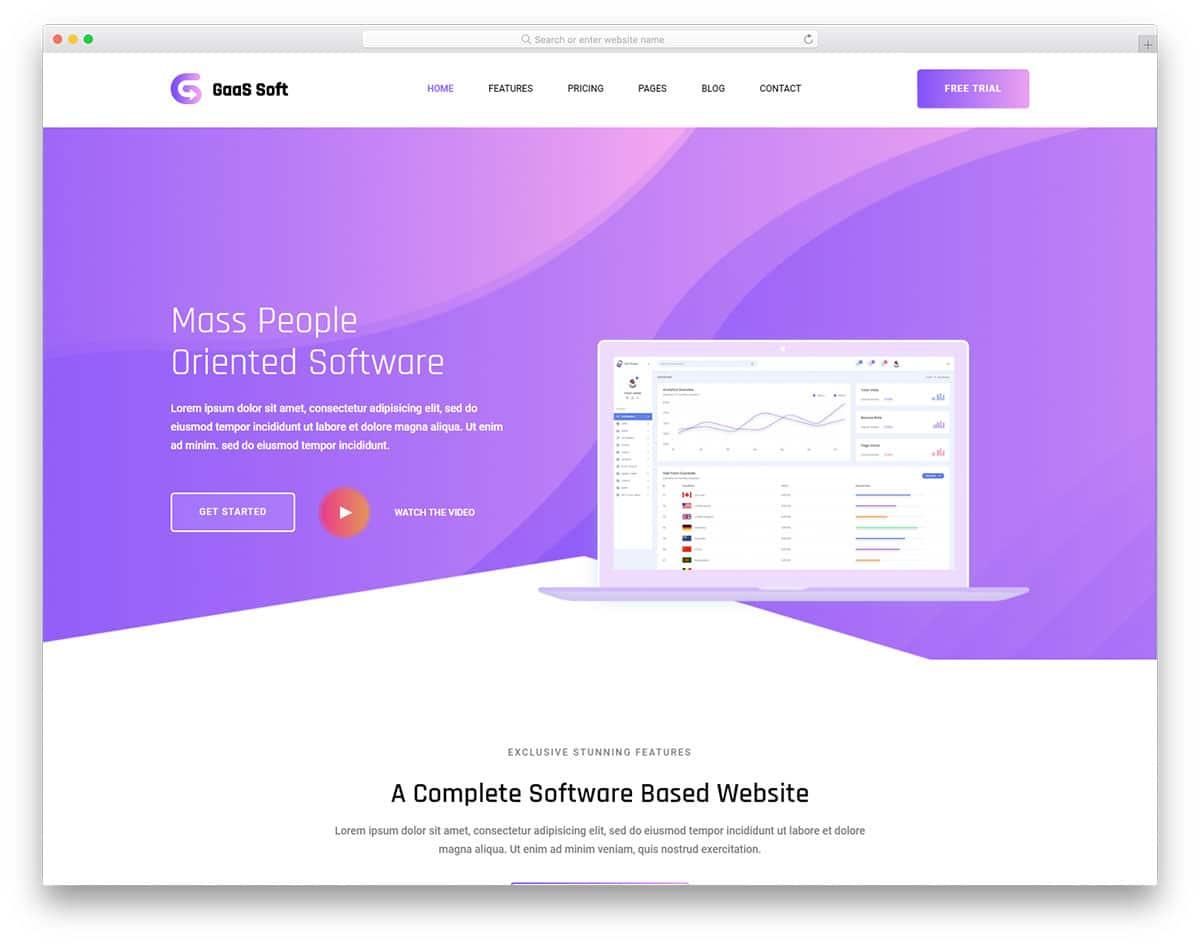 gaas-free-landing-page-templates