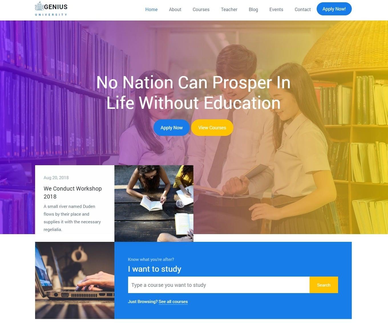 genius-free-kindergarten-website-template