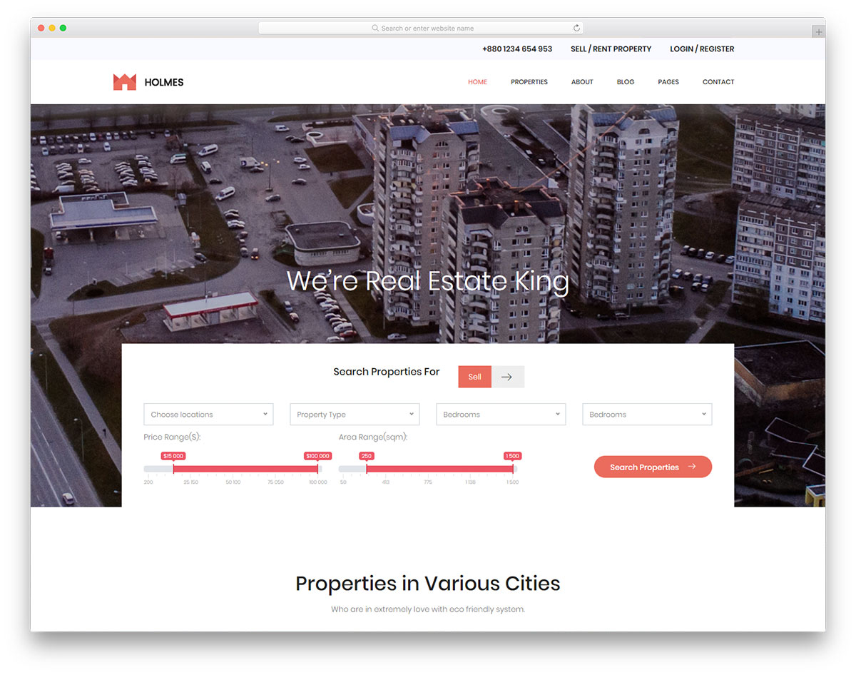 holmes-free-real-estate-website-templates