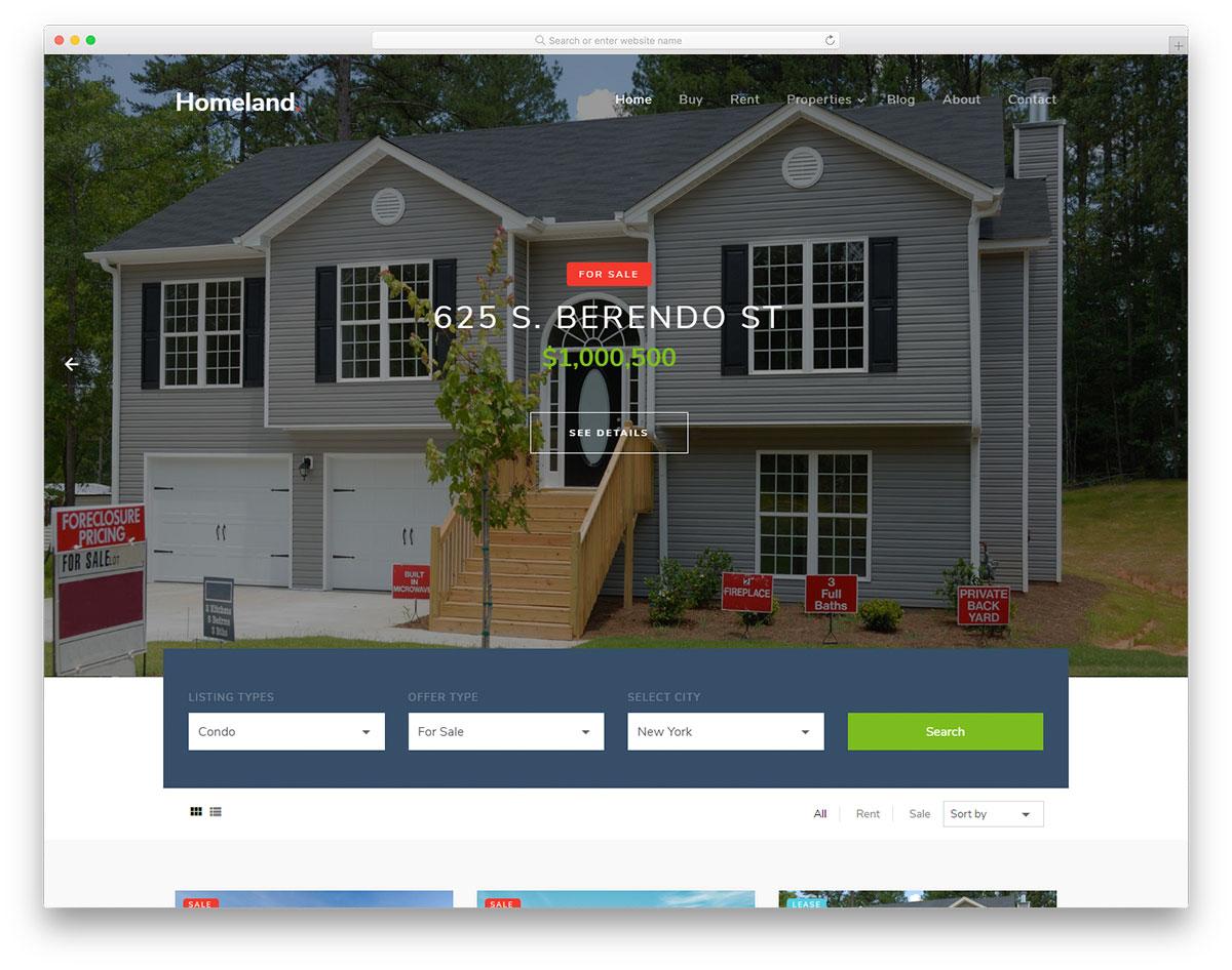 homeland-free-real-estate-website-templates