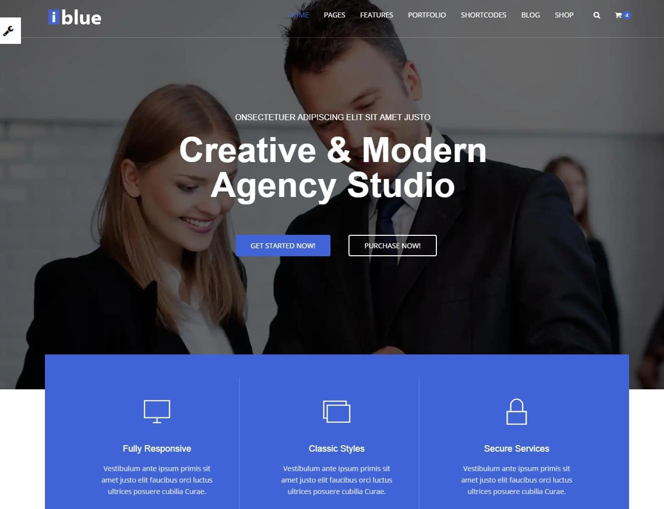 iblue simple website template