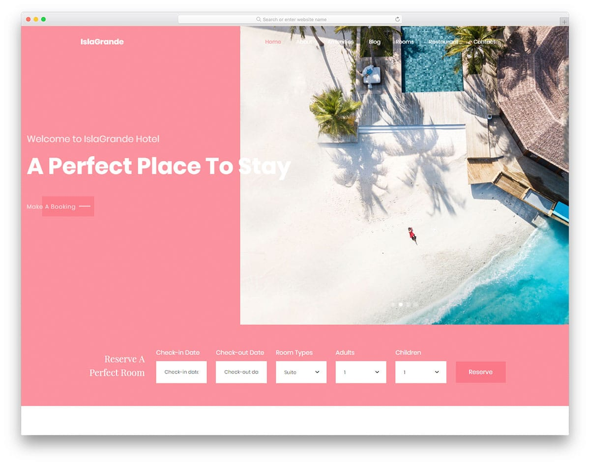 islagrande-free-hotel-website-templates