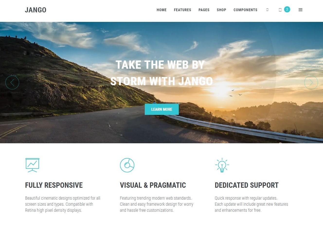 jango simple website template