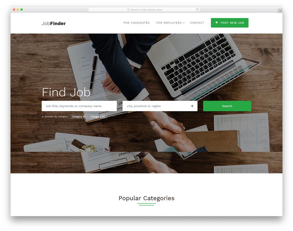 jobfinder-free-directory-website-templates