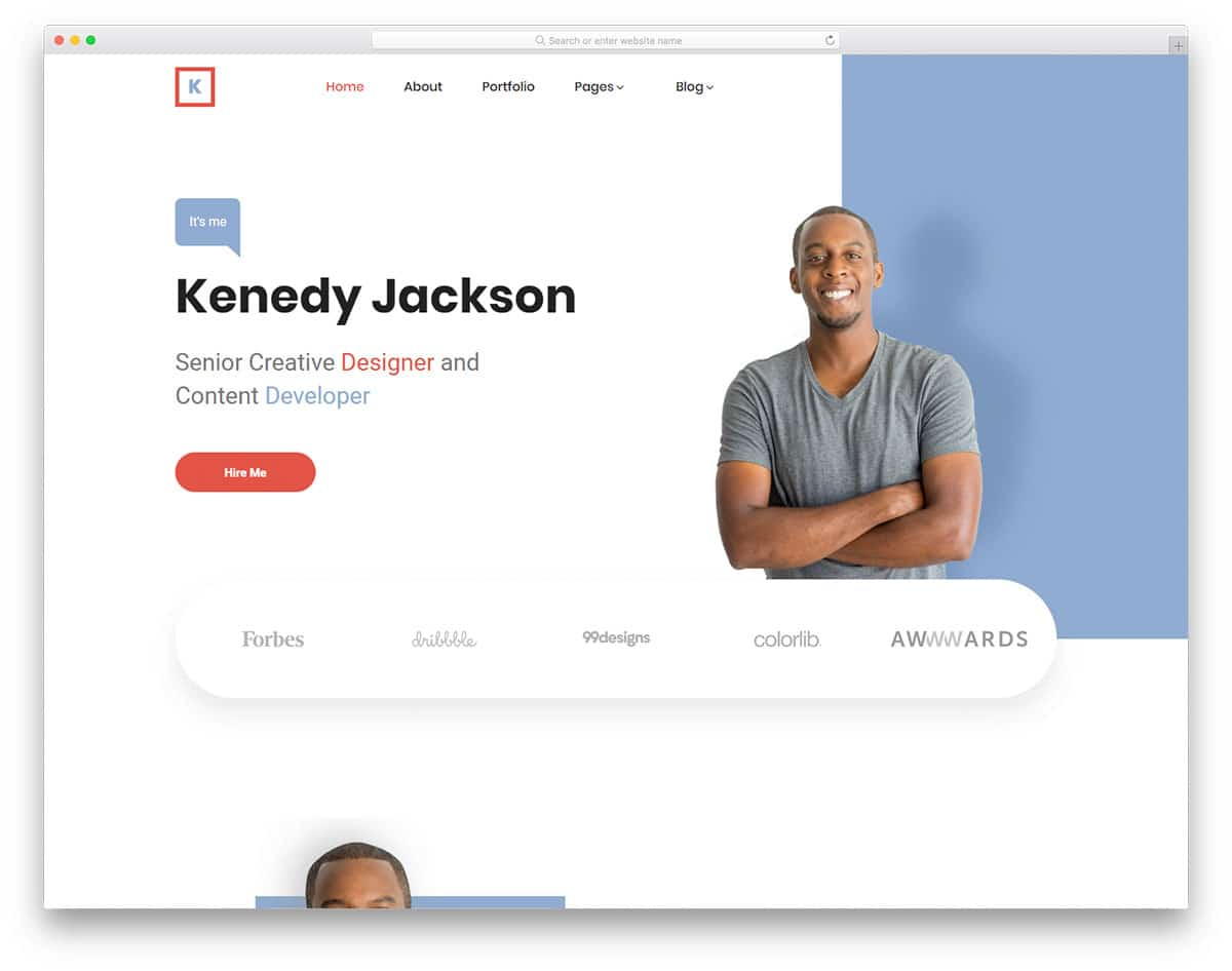 kenedy-free-personal-website-templates