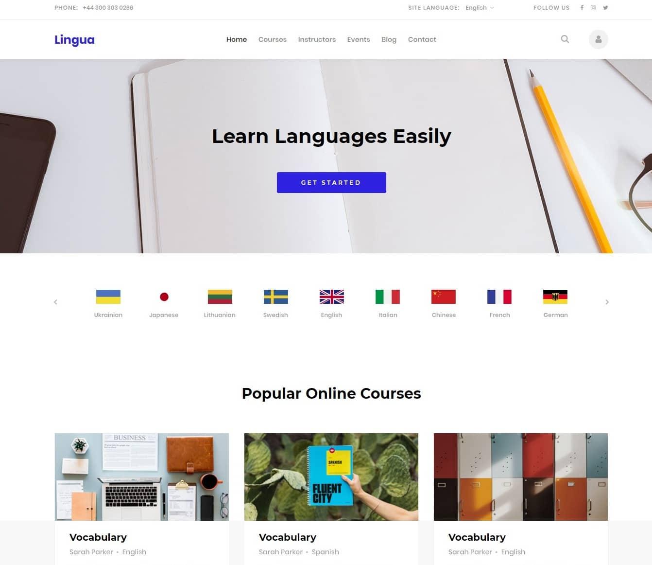 lingua-free-kindergarten-website-template