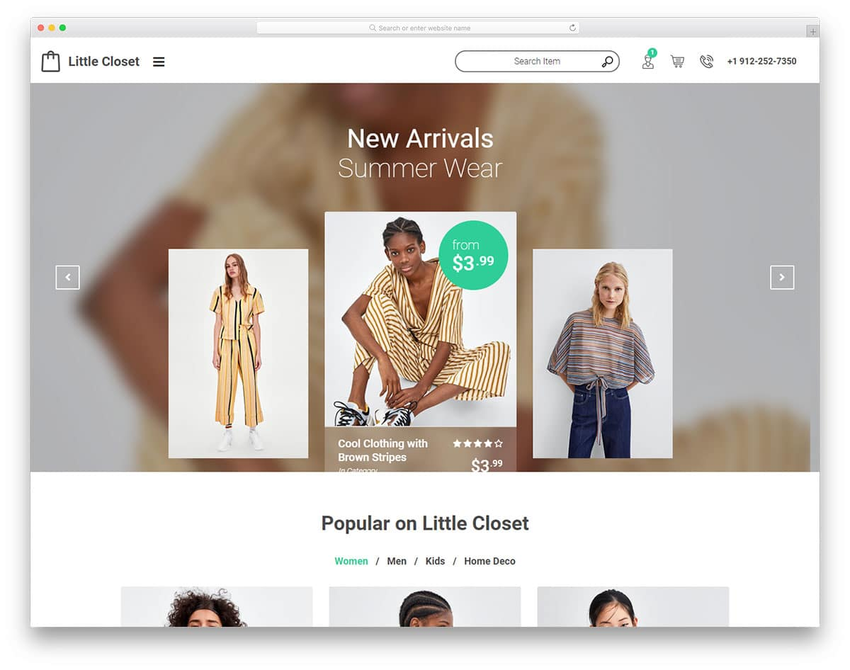 littlecloset-free-fashion-website-templates