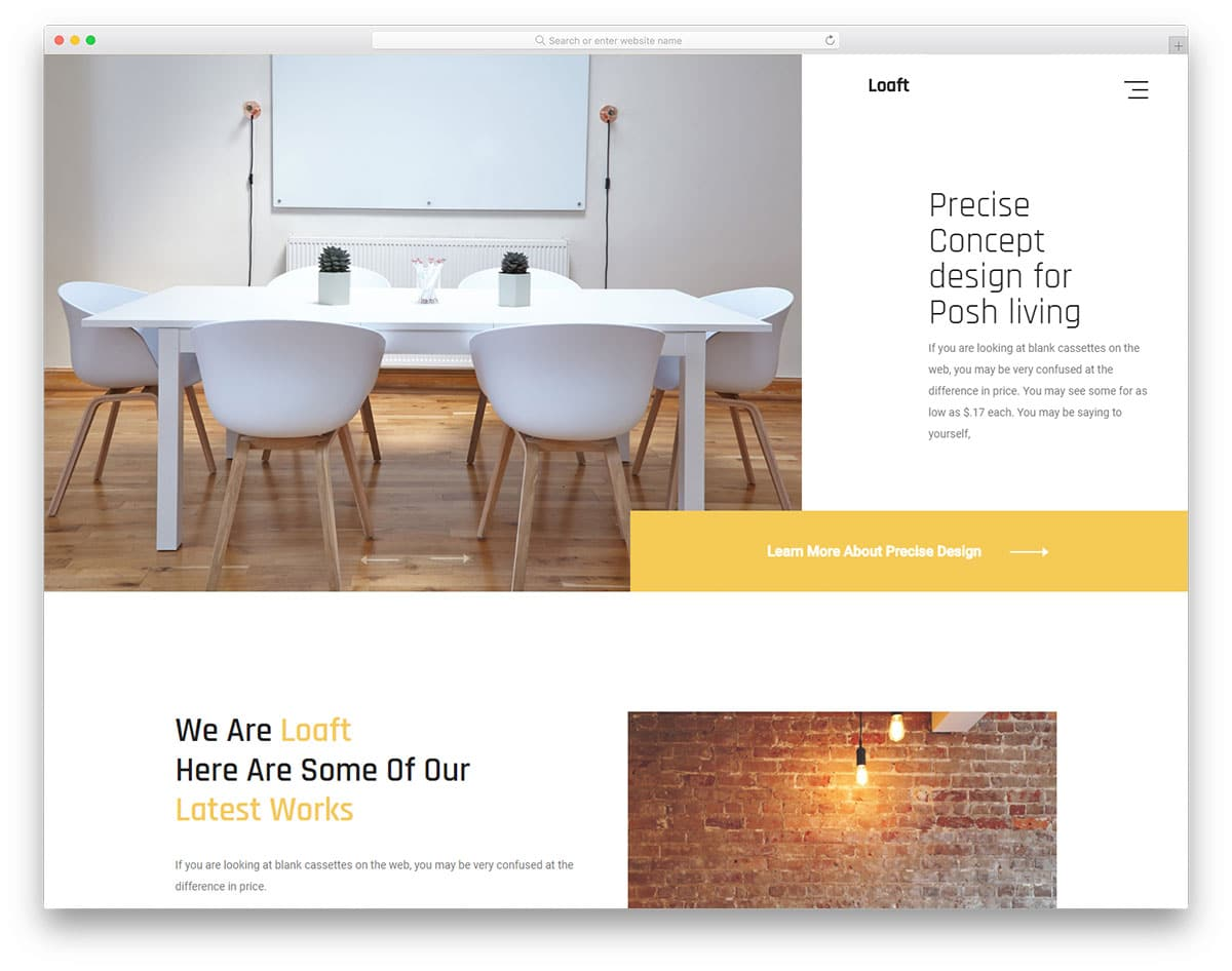 loaft-free-construction-website-templates