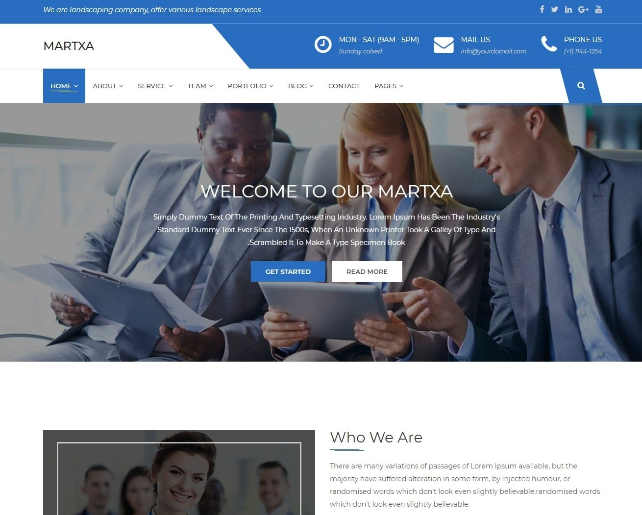 martxa transportation website template