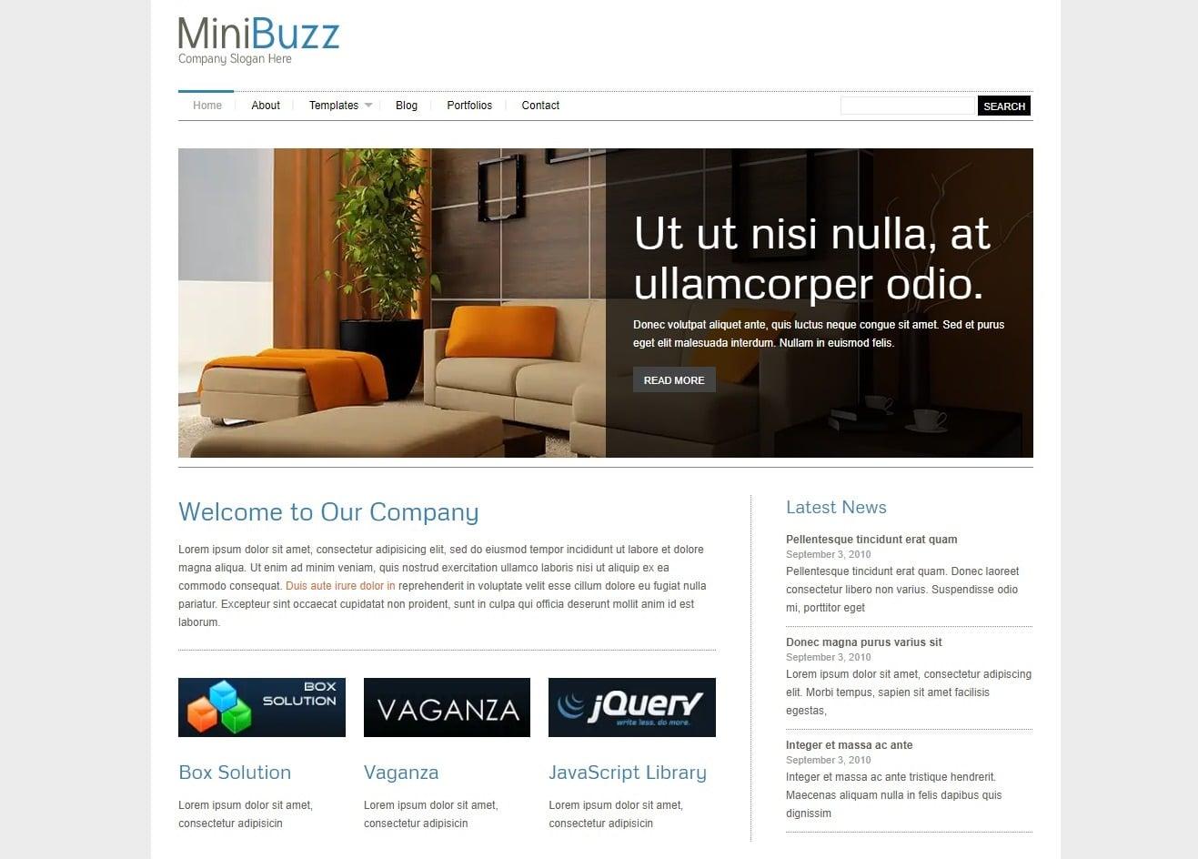 minibuzz simple website template